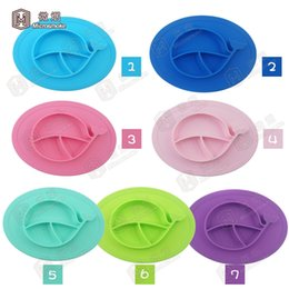 Wholesale Washable Food - Food Grade Silicone Babies Placemat Suction for Kids One-piece Smile Baby Feeding Plate Tray BPA Free Non-toxic Washable Reusable