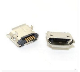 Wholesale Micro 5pin Usb Connector - Micro USB 5pin B type Female Connector For Mobile Phone Micro USB Jack Connector 5 pin Charging Socket