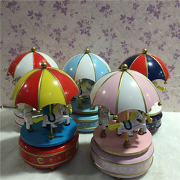 Wholesale Cheap Plastic Umbrellas - The new explosion of students birthday gift umbrella carousel music box cheap promotional music box
