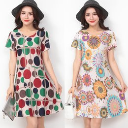 Wholesale Butterfly Print Dresses For Women - New Arrival Plus Size Dresses Summer Europe Floral Butterfly Lion Printed Short Sleeve Loose Dress Viscose Dress For Women Ladies Gifts
