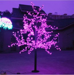 Wholesale Led Artificial Tree Wholesale - 1.5m 5ft Height Outdoor Artificial Christmas Tree LED Cherry Blossom Tree Light 480pcs LEDs Straight Tree Trunk Free Shipping