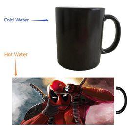Wholesale Magical Coffee Cup - Wholesale- deadpool mugs morphing coffee mug heat reveal Heat sensitive mugs magical Cup heat-reactived wine cups