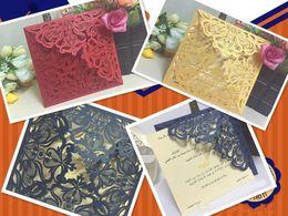 Wholesale european wedding invitations - American wedding invitations,invitation business card Wedding invitation card Blue star laser hollow out invitation card with European style