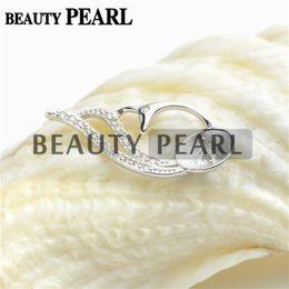 Wholesale Pendant Mounts Settings - Bulk of 3 pieces Blank Pendant Findings 925 Sterling Silver Pendant DIY Jewelry Make Pearl Mount Setting