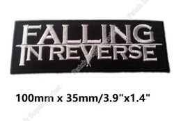 "Wholesale Falling Reverse - 3.9"" FALLING IN REVERSE Embroidered patches HEAVY METAL PUNK ROCK band Music iron on badge Ronnie Radke Goodbye Graceful"
