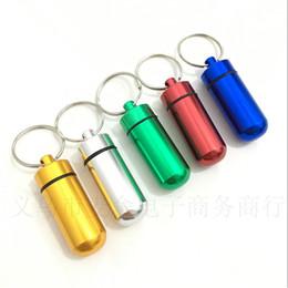 Горячие продажи алюминия Pill Box дело держатель бутылки контейнер брелок медицина Box водонепроницаемый здравоохранения wa3597 от