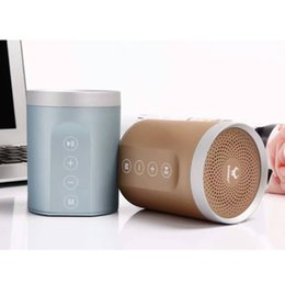 Wholesale Free Mobile Homes - Cheap Bluetooth Speakers DS-7606 metal Portable Speakers oudoor home MP3 Bluetooth Player Hands free for mobile