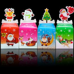 Canada Mode De Noël Décorations De Noël Apple Cadeau Boîte Pommes De Noël Veille Apple Emballage Solid Tree Bells Rouge Cupcake Box Papier Muffin Offre