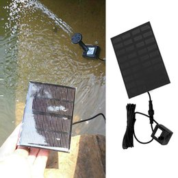 Wholesale 9v Motors - 9V Brushless Motor Solar Water Panel Powered Fountain Pool Watering Pump Submersible Watering Display PTSP