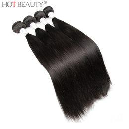 Wholesale Silky Human Hair Weave - Hot Beauty Hair Wholesale 7A Peruvian Virgin Hair Bundles Silky Straight 5 Pcs lot,100% Unprocessed Human Hair Weave Extensions