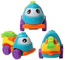 Wholesale Baby Boy Cars - 4 pcs Baby Toys Pull Back Cars Plastic Cute Toy Cars for Child Wheels Mini Car Model Funny Kids Toy for Boys Random Color