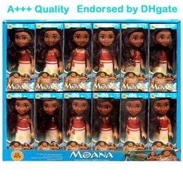 Wholesale Doll Toy Fashion Girl - 16cm x 7.5cm Moana Barbie Dolls Classic Moana Pincess Plastic Dolls Action Figure toys for Girls box pack