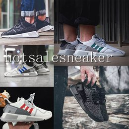 run equipment Coupons - 2017 EQT Cushion ADV Europe Exclusive 91-17 Mens Running shoes Black White Red Blue Women Equipment Outdoor Athletic sneaker size 36-44
