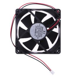 Wholesale 24v Cooler Fans - High Quality PC Cooler Fan 24V DC7 Blade 2 Wires Cooling Fan 80x80x25mm