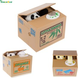 Wholesale Plastic Toy Banks - 12X10.5X9.6cm Electric Steal Money Cat Coins Piggy Bank with Sound Effects Money Saving Best Gifts for Kids Novelty Creative Toy