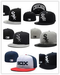 Wholesale Silk Sox - Wholesale cheap New Chicago White Sox Embroidery Logo Fitted Hats Men Women Structured Fit Classic Sport Baseball Cap