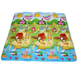 Wholesale Kids Soft Play Mats - Baby Crawling Mat Children Double-sides Soft Game Rug Play Crawling Sports Toy Carpet Kids Toy Game Rug Crawling Play mat Gift +NB