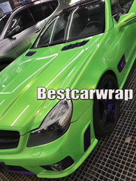 Wholesale Glow Head - Apple green Gloss shift to gold glow Vinyl Wrap For Car Wrap Film Magic glossy 1080 Union Wrapping foil Size:1.52*20m( 5x67ft)
