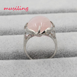 Wholesale Lapis Stone Ring - musiling Jewelry Wedding Ring Natural Stone Crystal Rings Charms Oval Crystal Lapis Lazuli etc Adjustable Accessories Silver Plated Jewelry