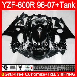 8Gift 23Color para YAMAHA Thundercat YZF600R 96 97 98 99 00 01 53HM1 negro brillante YZF 600R YZF-600R 1996 1997 1998 1999 2000 2001 Kit de carenado desde fabricantes