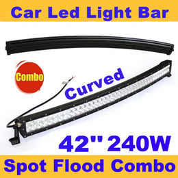 Wholesale Bar Light Camping - 42 inch 240W Curved Spot Flood Combo Beam Led Light Bar Driving Work Light for 4WD ATV Off-Road Truck SUV Jeep Wagon Traveler Camping Car