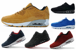 Wholesale Mens Sh - Mens Sneakers Shoes classic 90 Men and women Running Shoes Black Red White Sports Trainer Air Cushion Surface Breathable Sports Sh EUR 40-45
