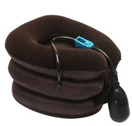 Wholesale Neck Braces - New Inflatable pillow Neck Back Shoulder Pain Relief Massager Cervical Traction Soft Brace Device Neck Care Massage Relaxation
