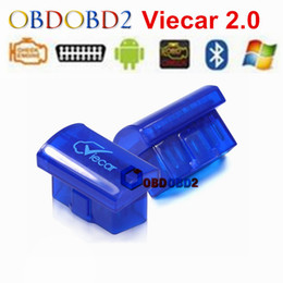 Wholesale Elm327 Interface Obd2 - Wholesale- Mini ELM327 V2.1 OBD2 Bluetooth Interface Auto Viecar 2.0 Car Scanner Diagnostic Tool For Android Smart Phone Car Fault Detector