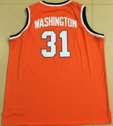 Wholesale Pearl S - #31 Dwayne Pearl Washington high quality embroidery Jerseys Orange White College Throwback Men's Embroid jersey
