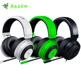 Wholesale White Pro Headphones - High Quality 3.5mm Razer Kraken Pro Gaming Headset with Wire control headphones in BOX for IOS Android PS4 Xbox earphone without package