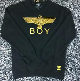 Wholesale Boys Sportwear - Wholesale-Cotton Boy London Mens Hoodies And Sweatshirts Brand Long Sleeve Sportwear Clothes Autumn Thin Coat Fashion Black Sweatshirt Men