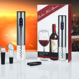 Wholesale Electric Bottle Opener Wine - Electric Wine Opener set Automatic Wine Bottle Opener Cordless With Foil Cutter and Vacuum Stopper CCA6714 20set