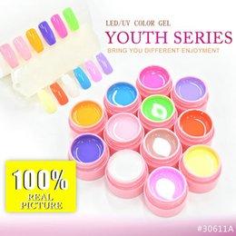 Wholesale Painting Set Kit - Wholesale-#30611ABC CANNI 12 colors set Youth Elegent Natural Series UV LED Gel System Soak Off Profession Gel Paint Kit