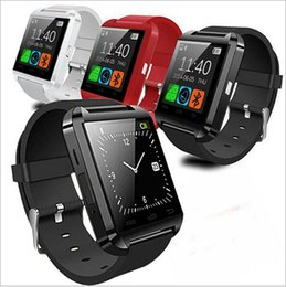Wholesale Free Smartphones - U8 Smart Watch Bluetooth Wrist Watches Altimeter Smartwatch for Apple iPhone 6 5S Samsung S4 S5 Note Android HTC phones Smartphones Free DHL