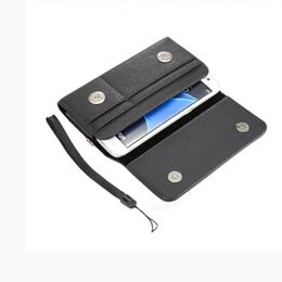 "Wholesale Iphone 5s Belt - 4.0"" 6.3"" Universal Clip belt Holster Hasp Leather Case For IPhone 8 7 6 6S Plus 5S Samsung Galaxy S8 S6 S7 Edge S5 Note 5 3 4 Card Bag 1pcs"