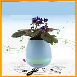 Wholesale Mini Flower Pots Gifts - New Bluetooth Speaker Smart Colorful Piano Music Flower Pot Touch Induction Creative Gift Indoor Green Plant Music Potted Plant