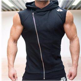 Wholesale Fitness Engineering - Wholesale-2016 Years Crime Body Engineers Hoodies Stringer Vest Man Body Engineers Fitness Movement Sleeveless Vest Vest Vst