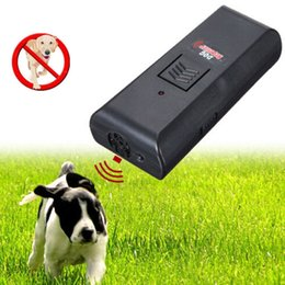 Wholesale Quality Dog Repeller - 2 in 1 Anti Barking Stop Bark Ultrasonic Pet Dog Repeller Training Device Trainer High Quality