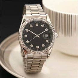 Wholesale Black Ceramic Watches For Women - 40MM Luxury Brand Lady White Black Ceramic Watches High Quality Quartz Wristwatches For Women Fashion Exquisite Women Watches