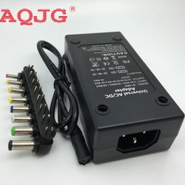 Wholesale Laptop Power Supply Cable - Wholesale- 110-220v AC To DC 12V 15V 16V 18V 19V 20V 24V Laptop Charger Adapter 96W Universal Laptop PC Netbook Power Supply Charger Black