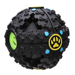 Wholesale Dog Toys Balls - Fantastic Black Bone Pattern Pet Dog Feeding Ball Sound Toy Dog Treat Dispensing Toy Interactive IQ Treat Training A249