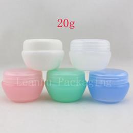Wholesale Mushroom Manufacturers - 20G colored empty mushroom shape cream cosmetics jar skin care cream plastic container,travel compact container tin manufacturer