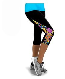 Wholesale Wholesale Tights For Ladies - New Fashion Yoga Sports Leggings For Women Mid-Calf Tight Fitness Leggings Pants Running Tights Ladies Legging
