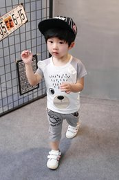 Wholesale New Suits For Boys - Children's suit in the summer of 2017 the new model of leisure baby short sleeve shorts for men and women children of the 1-2-3-4 years old