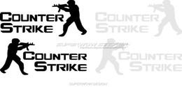 Wholesale Rearview Car Mirror Decal - CS Counter Strike Car Sticker Brother CS Sniper Mirror Rearview Mirror Waterproof Car Sticker Personalized decals