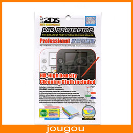 Wholesale Professional Lcd Screen Protector - Professional Anti-Glare HD LCD Screen Protector Film For 2DS With Cleaning Cloth Inclued