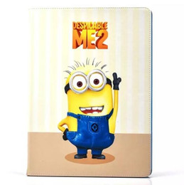 Wholesale Despicable Flip Case - Despicable ME2 Minion Cartoon PU Leather Flip Stand Smart Cover Wallet Case for ipad Mini 4 ipad 234 5 air 6 air2 OEM