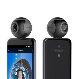 Wholesale Degree Fish Eye Lens - Insta360 Air Camera VR Selfie Camera 360 Degree mini Panoramic Camera 3K HD Sport DV Dual Fish Eye lens for Android Smartphone 2pcs