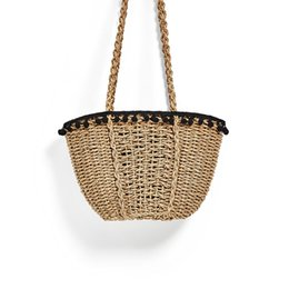 Wholesale Woven Handbags Summer - Vintage Women Handbag Summer Bohemian Indian Straw Bag Brands Travel Woven Beach Bag C77
