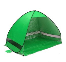 Wholesale Blue Shelter - Automatic Opening beach tent sun shelter UV-protective tent shade lightweight pop up open for outdoor camping fishing